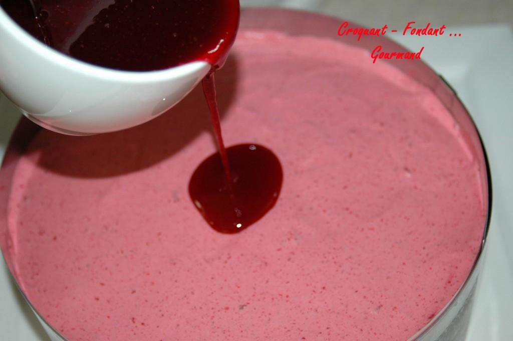 Bavarois framboise vanille croquant fondant gourmand for Miroir framboise