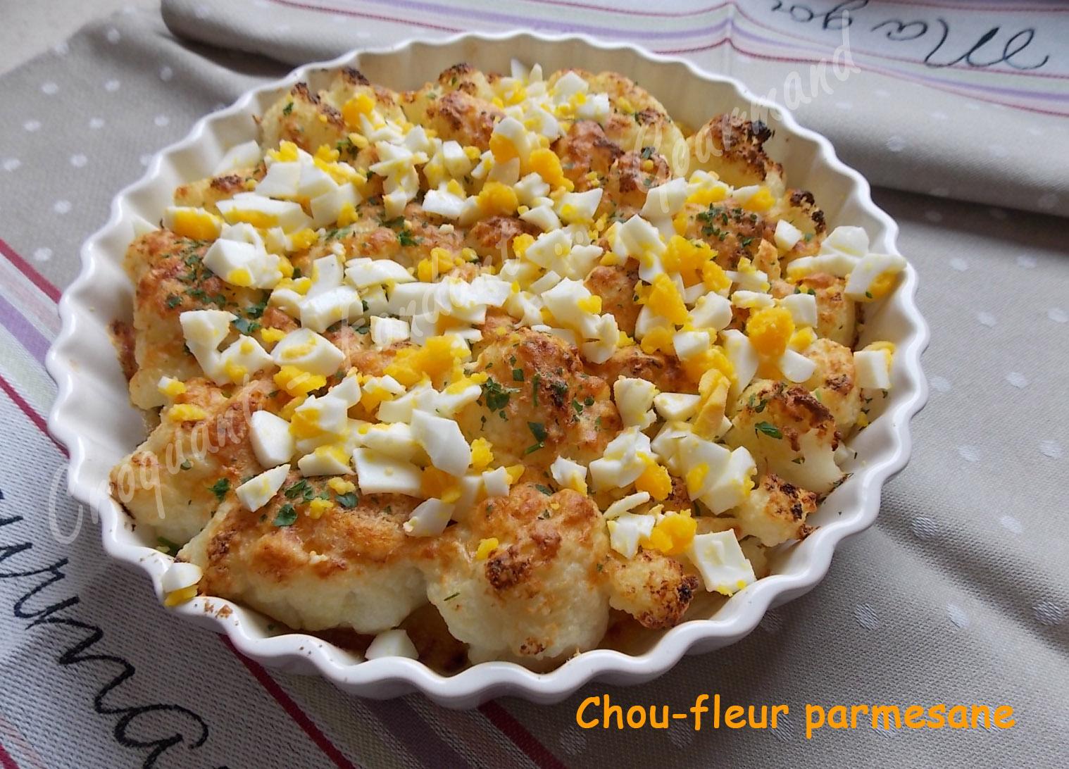 Chou-fleur parmesane. - Croquant Fondant Gourmand