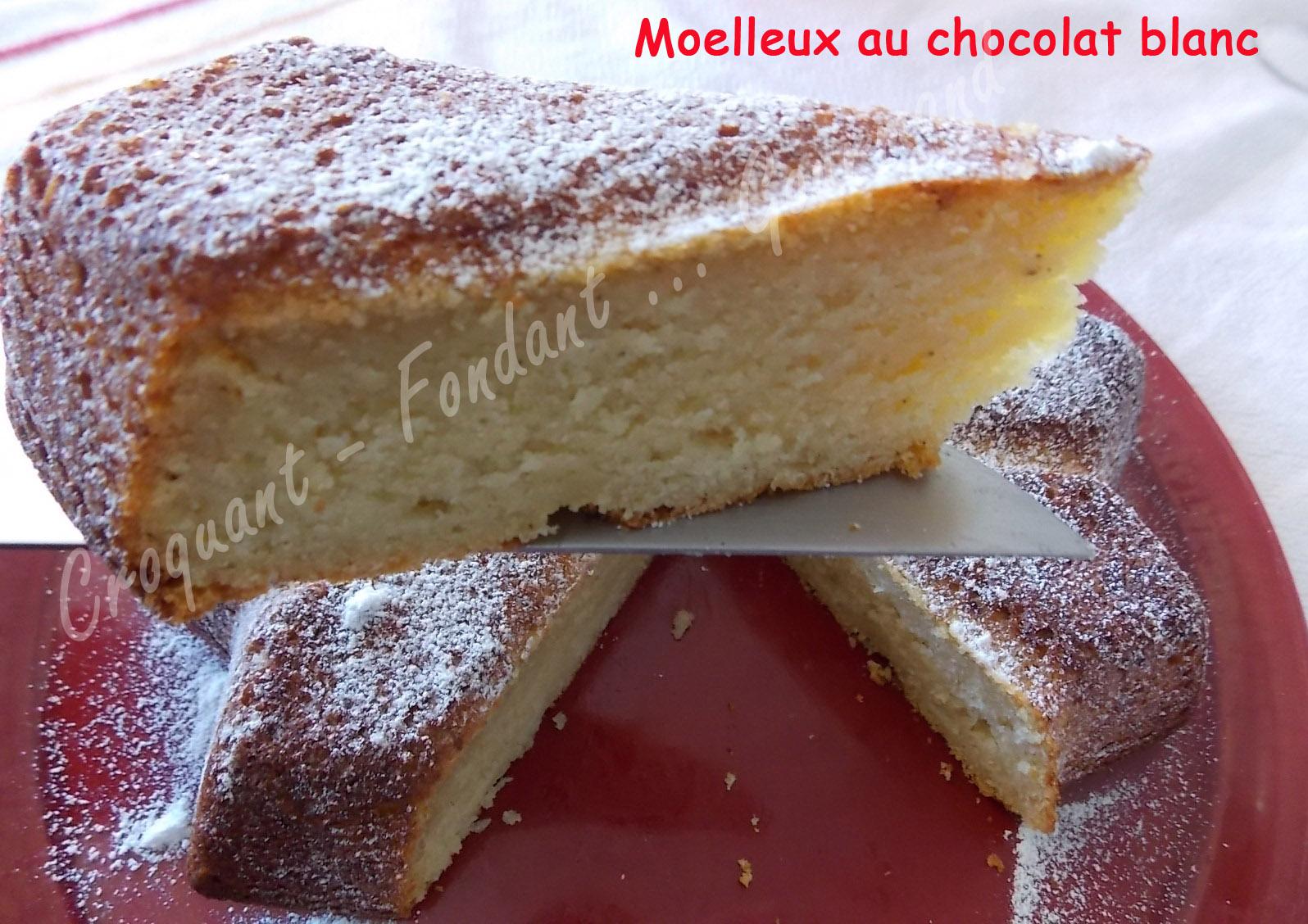 Moelleux au chocolat blanc croquant fondant gourmand - Decoration moelleux au chocolat ...