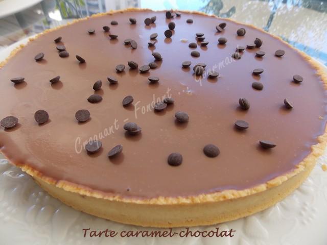 Tarte caramel-chocolat DSCN9746