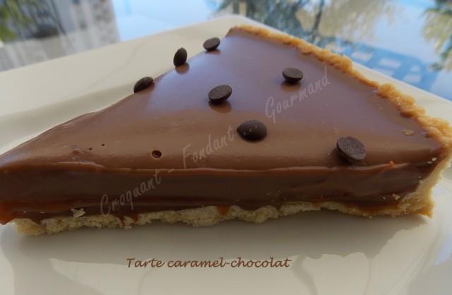 Tarte caramel-chocolat DSCN9755