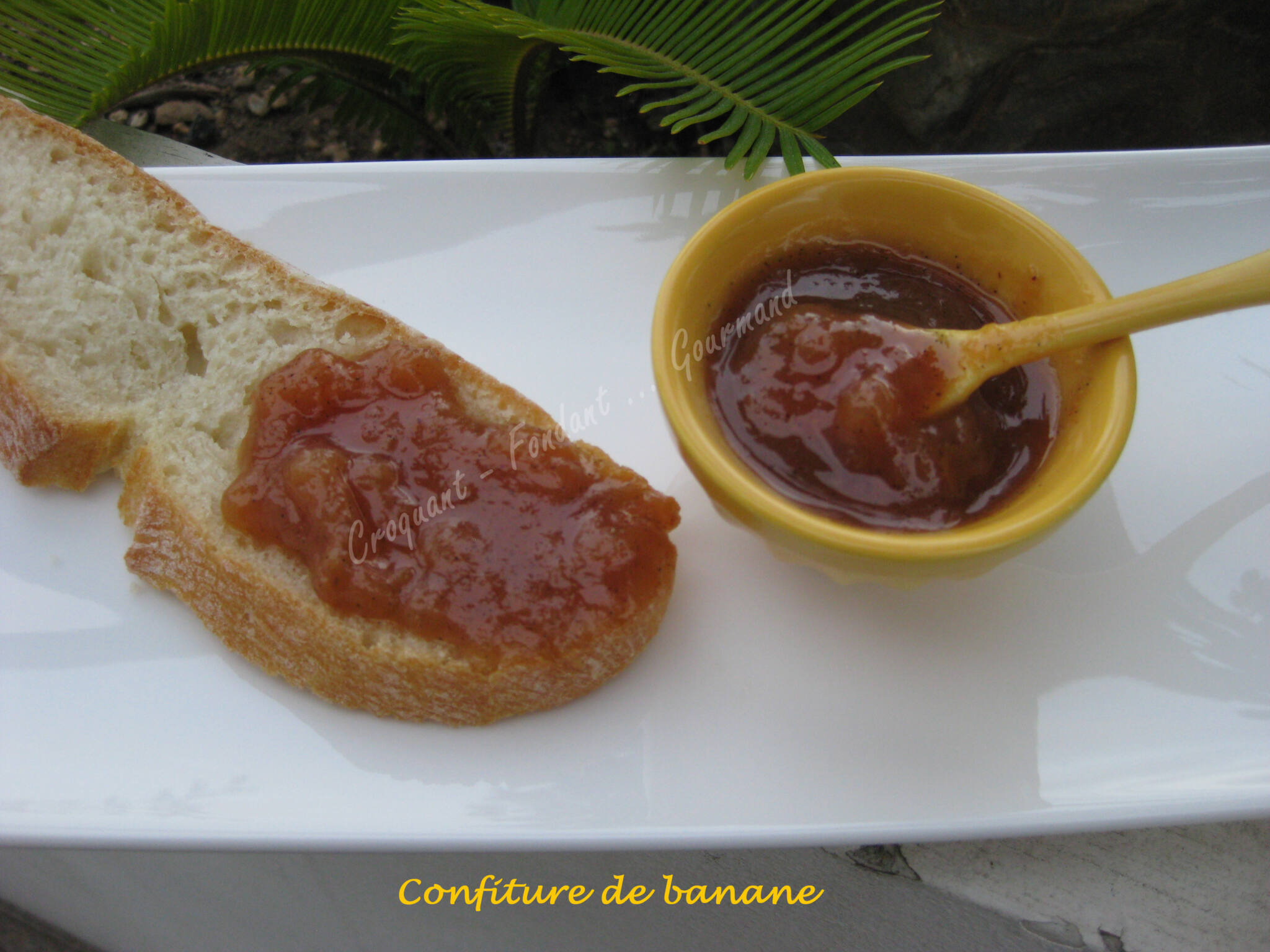 confiture de banane img 6452 croquant fondant gourmand. Black Bedroom Furniture Sets. Home Design Ideas
