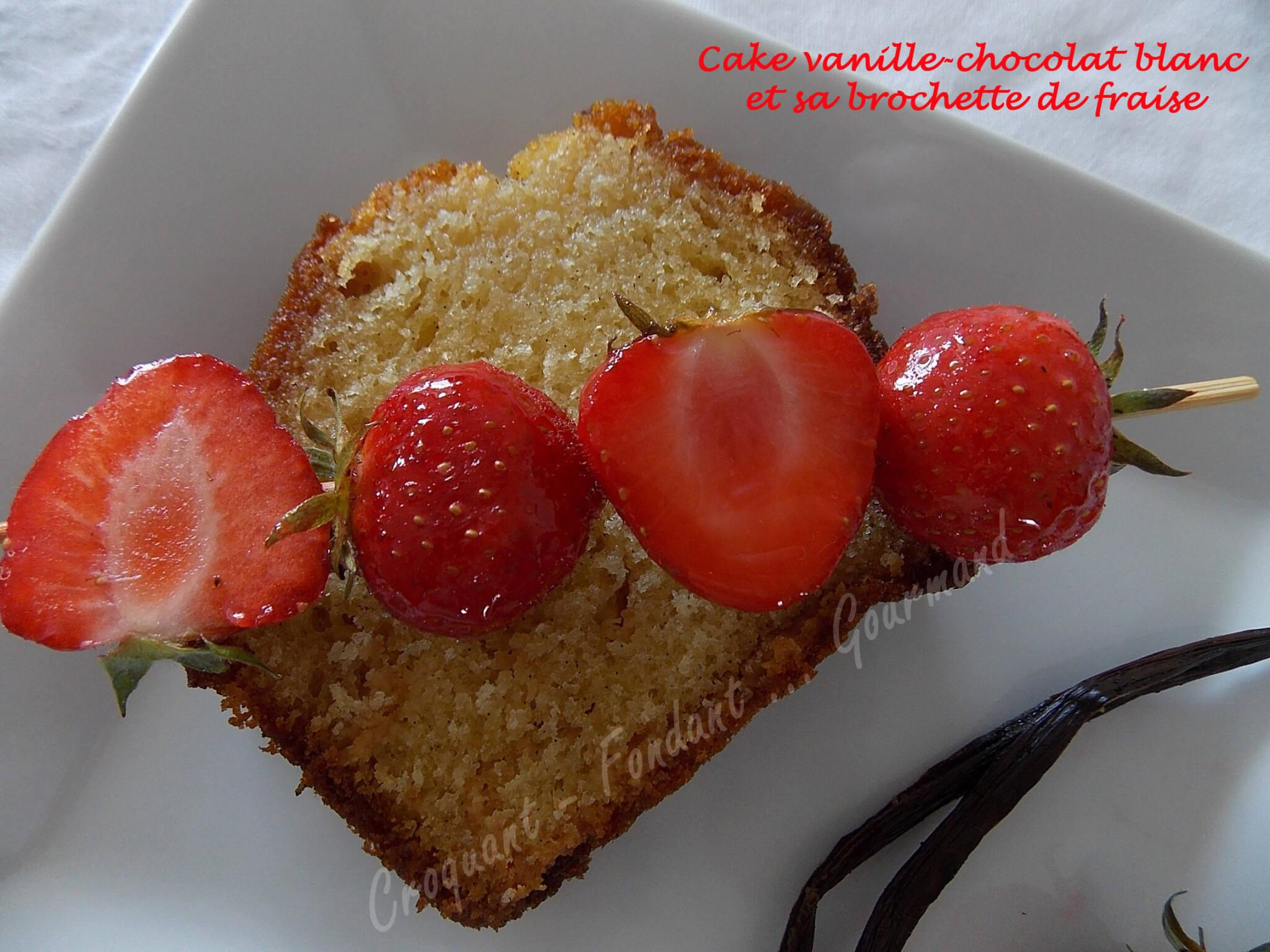 cake vanille chocolat blanc et sa brochette de fraises. Black Bedroom Furniture Sets. Home Design Ideas