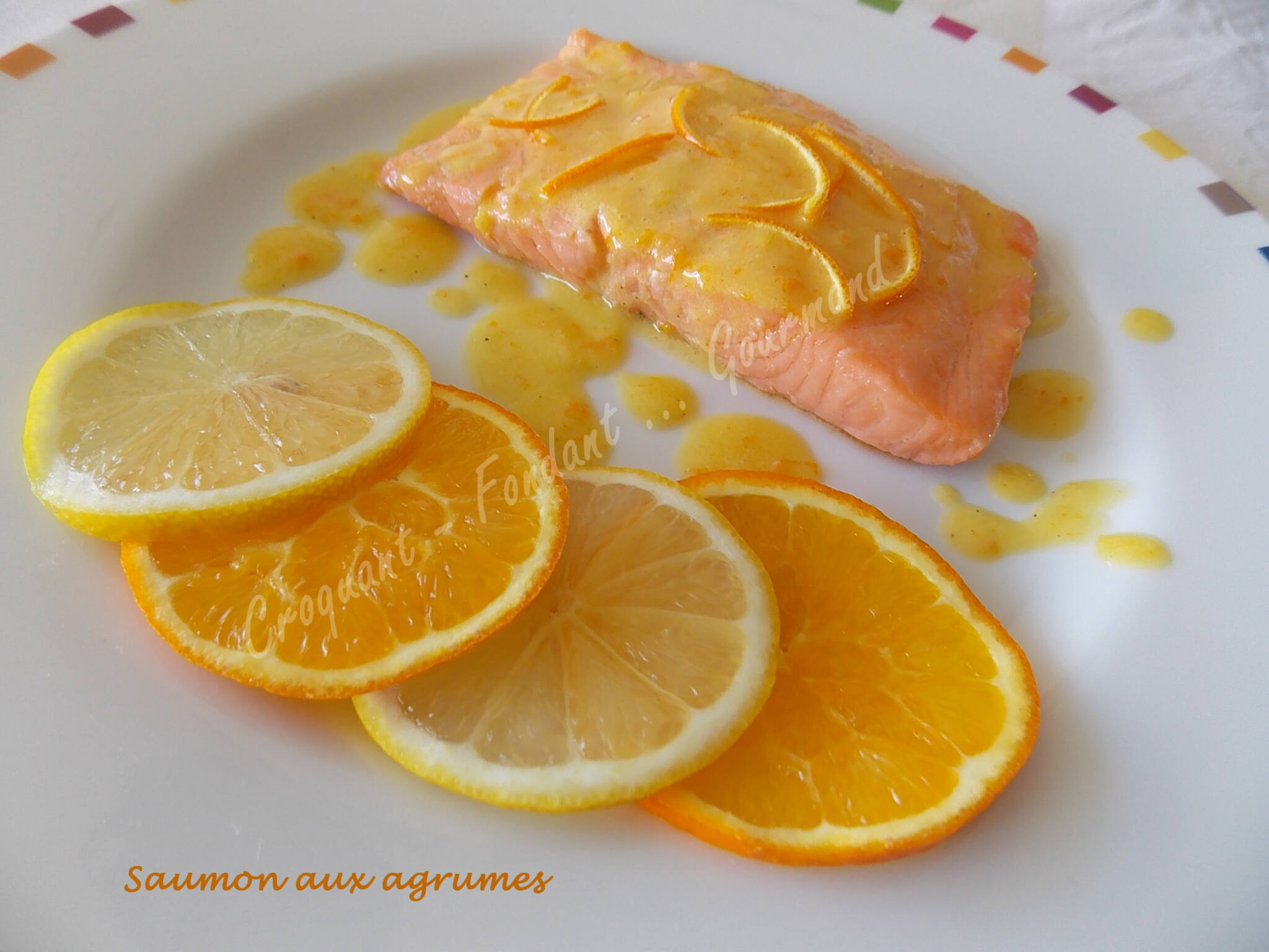Saumon aux agrumes passe plat entre amis 6 croquant for Plat original entre amis