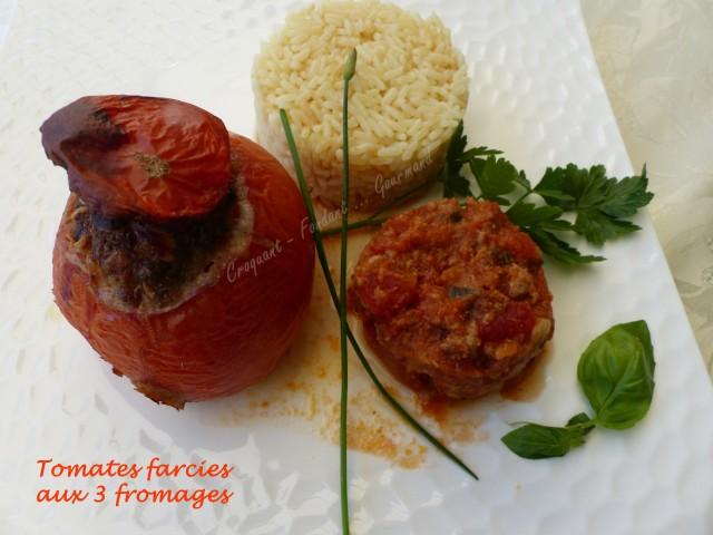 Tomates farcies aux 3 fromages P1030962