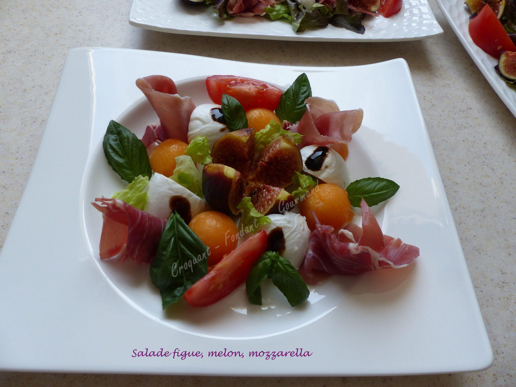 Salade Figue Melon Mozzarella P1050007 Croquant