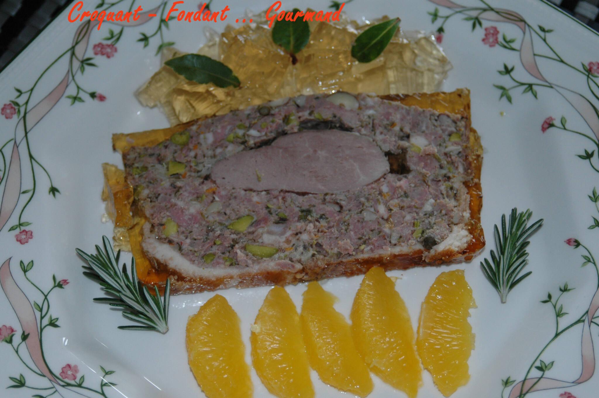 Terrine canard noisettes-pistaches. - Croquant Fondant ...