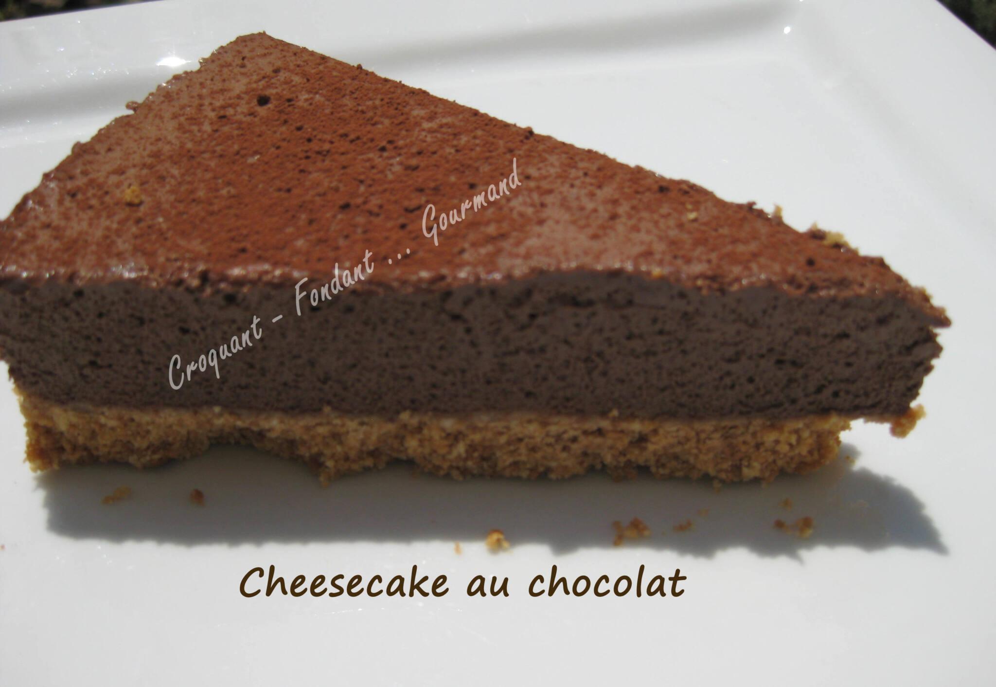 Cheesecake chocolat. - Croquant Fondant Gourmand
