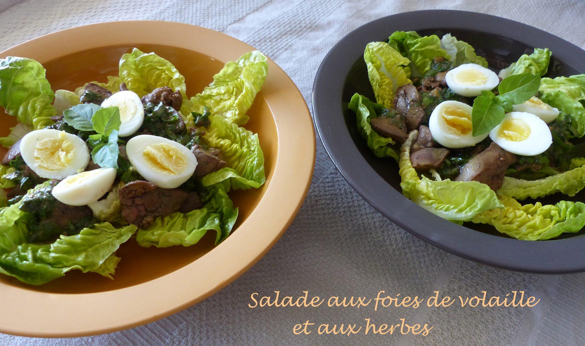 Salade aux foies de volaille et aux herbes P1110255 R