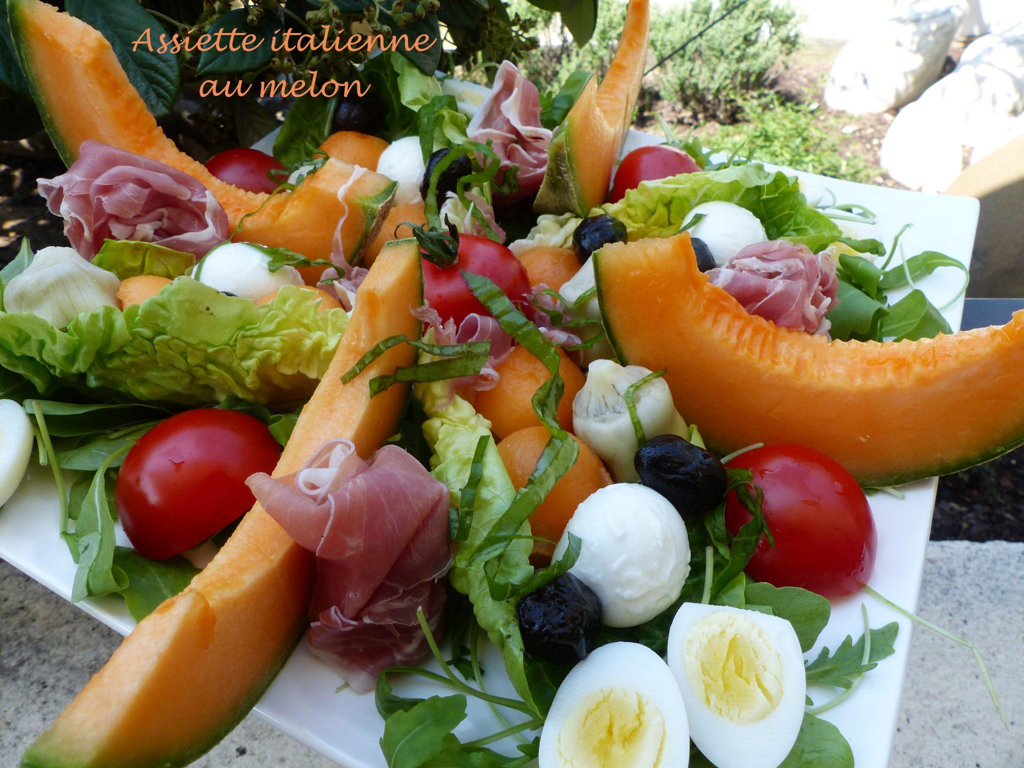 Assiette italienne au melon P1110759 R