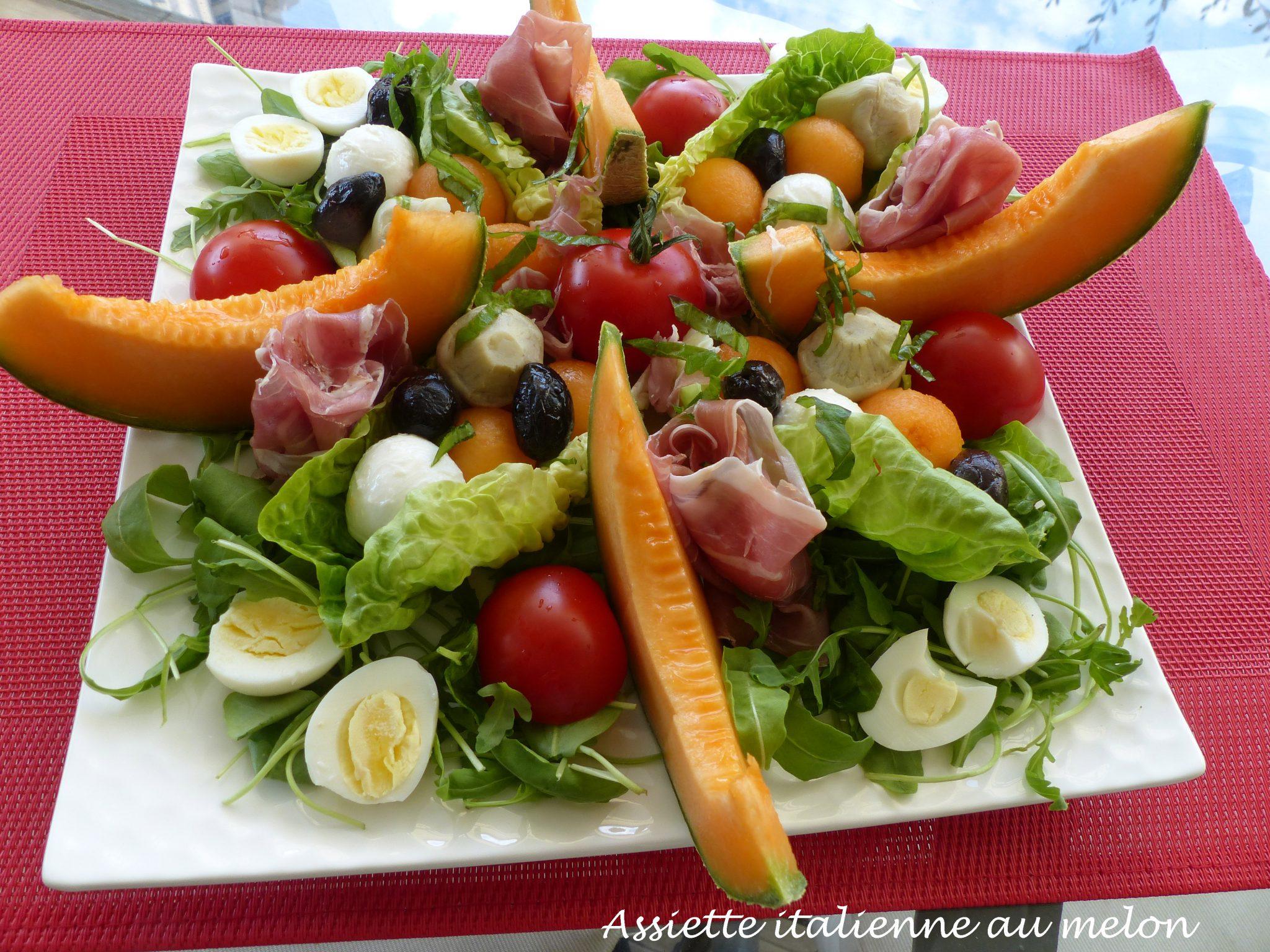 Assiette italienne au melon P1110763 R