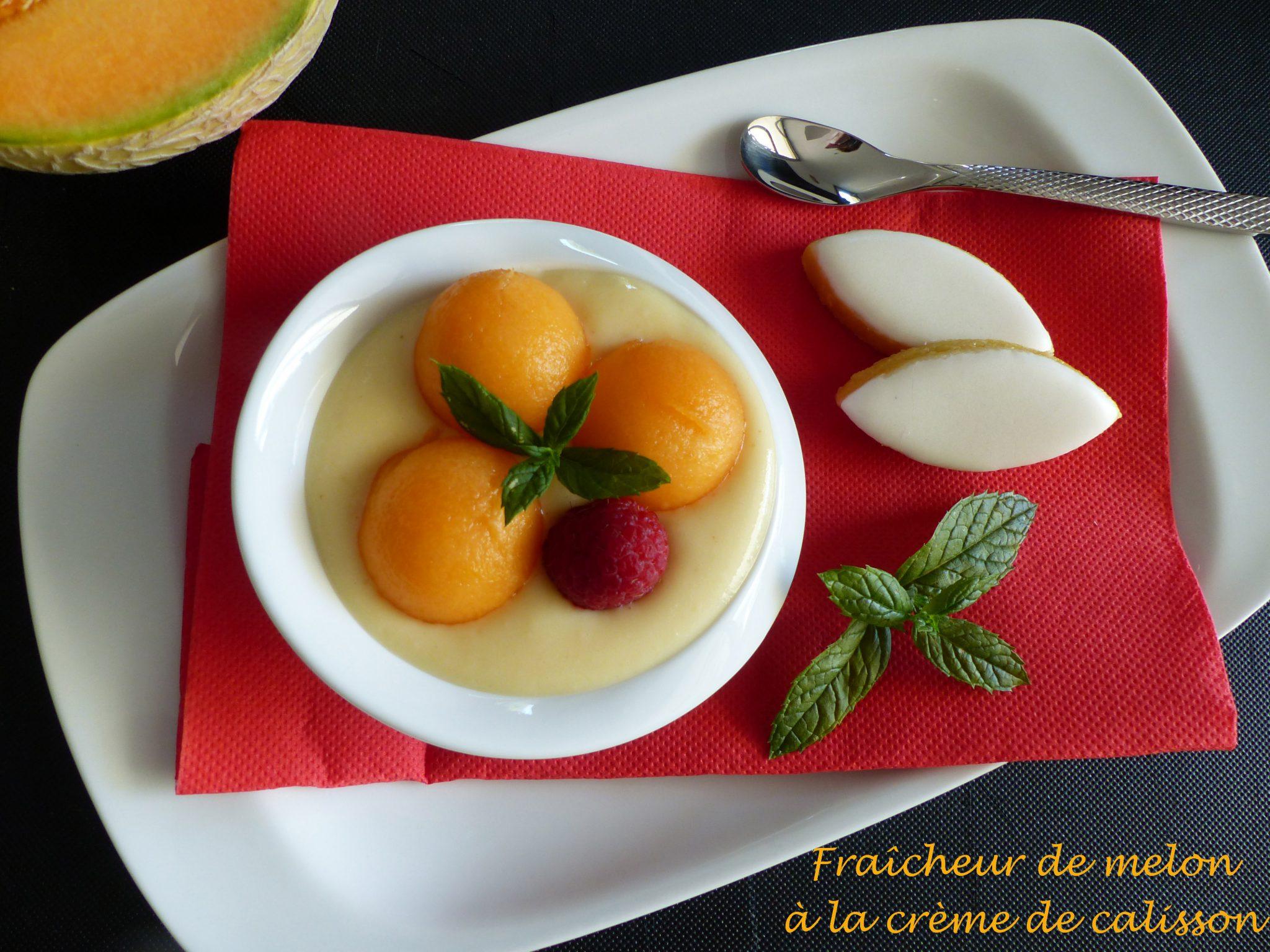 Fraîcheur de melon à la crème de calisson P1120074 R