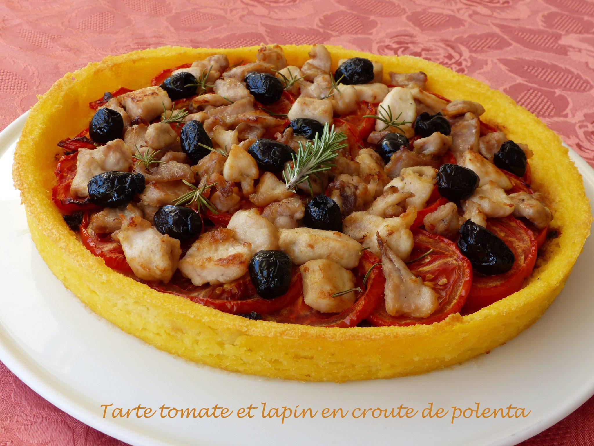 Tarte tomate et lapin en croute de polenta P1120461 R