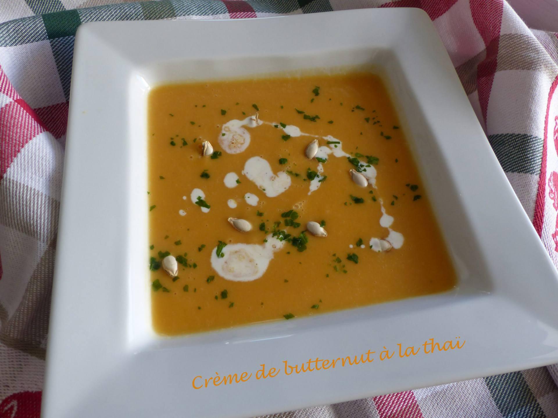 Crème de butternut à la thaï P1150565 R