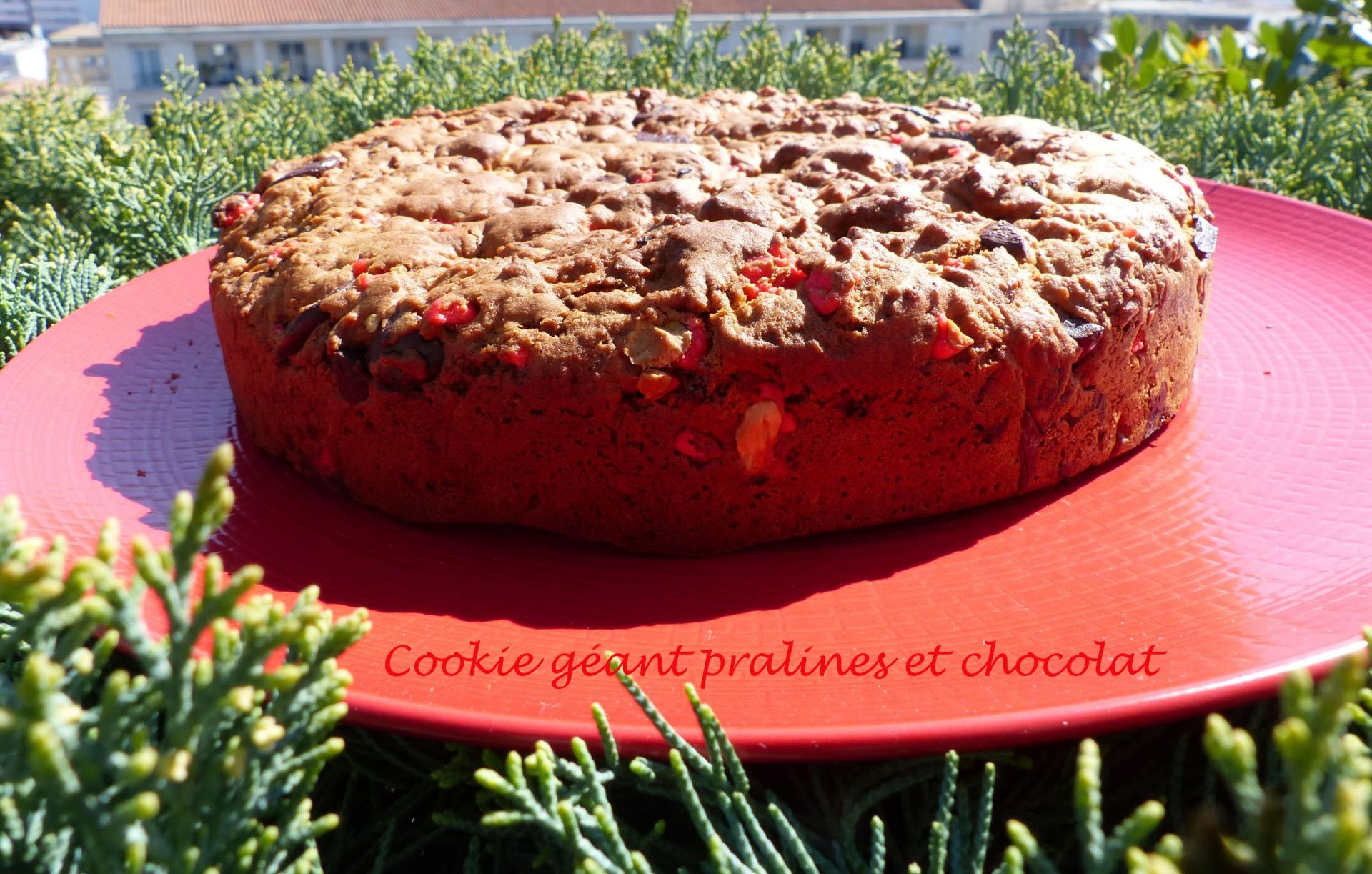 Cookie géant pralines et chocolat P1160851 R