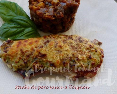 Steaks de porc sauce à l'oignon P1190361 R