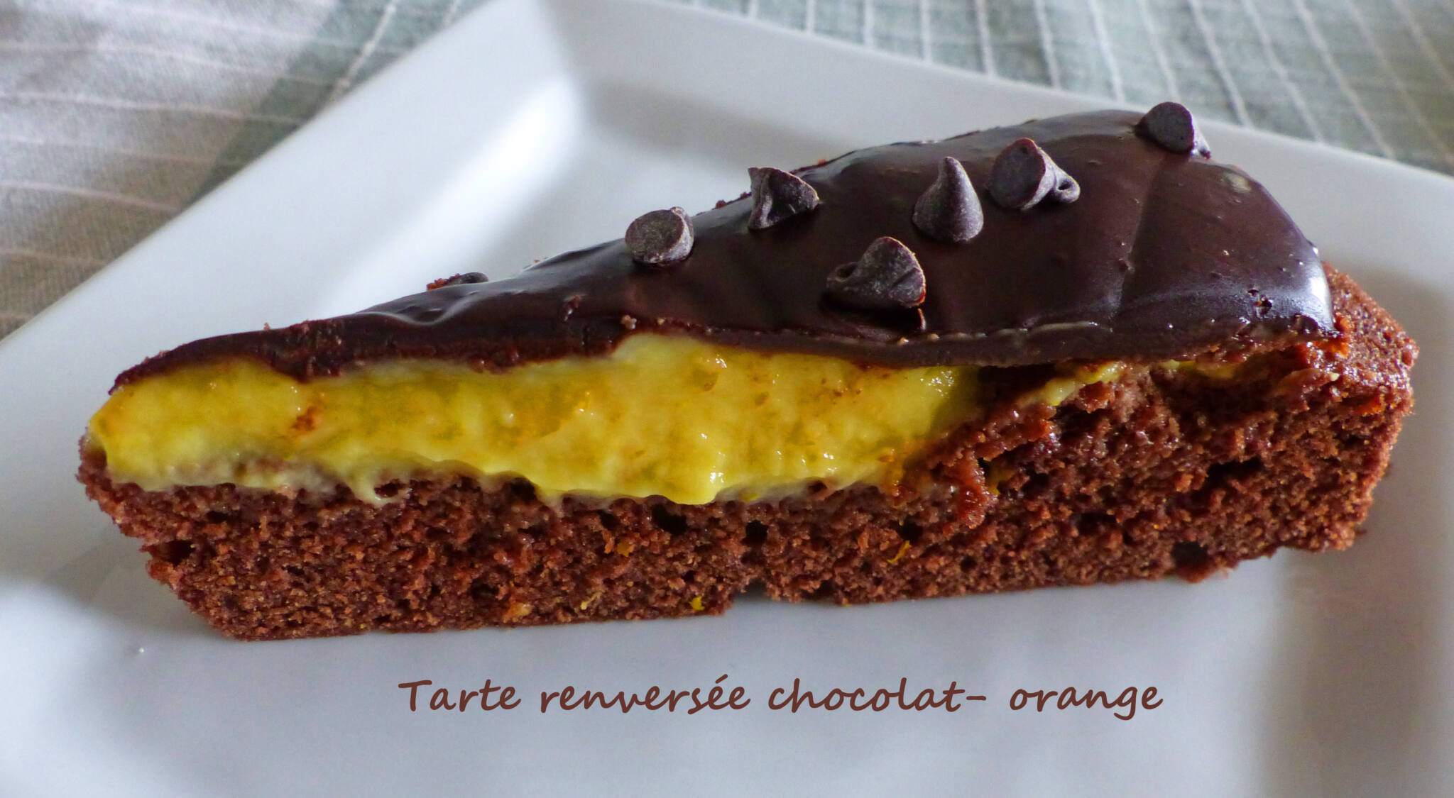 Tarte renversée chocolat- orange P1230208 R