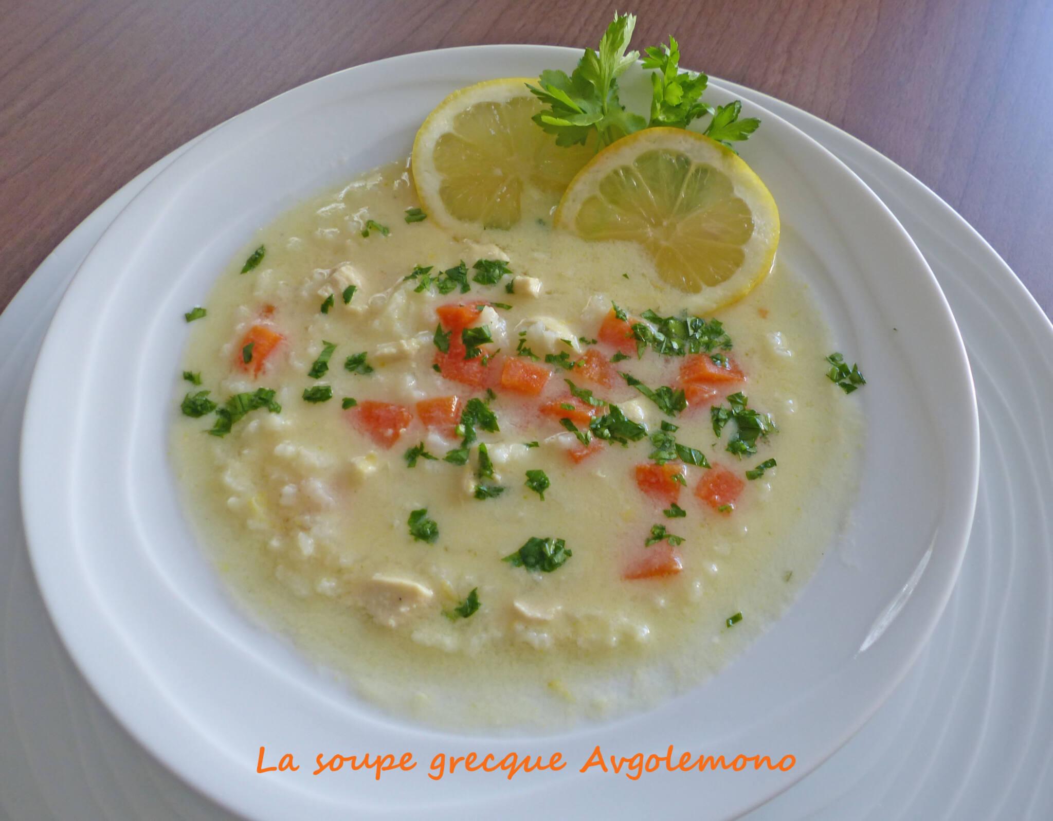 La soupe grecque Avgolemono P1230976 R