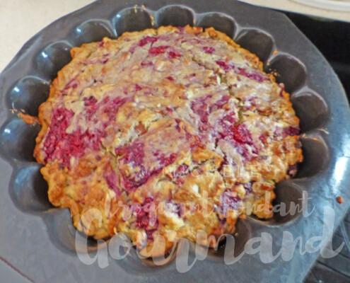 Gâteau rustique framboise-amande P1250593