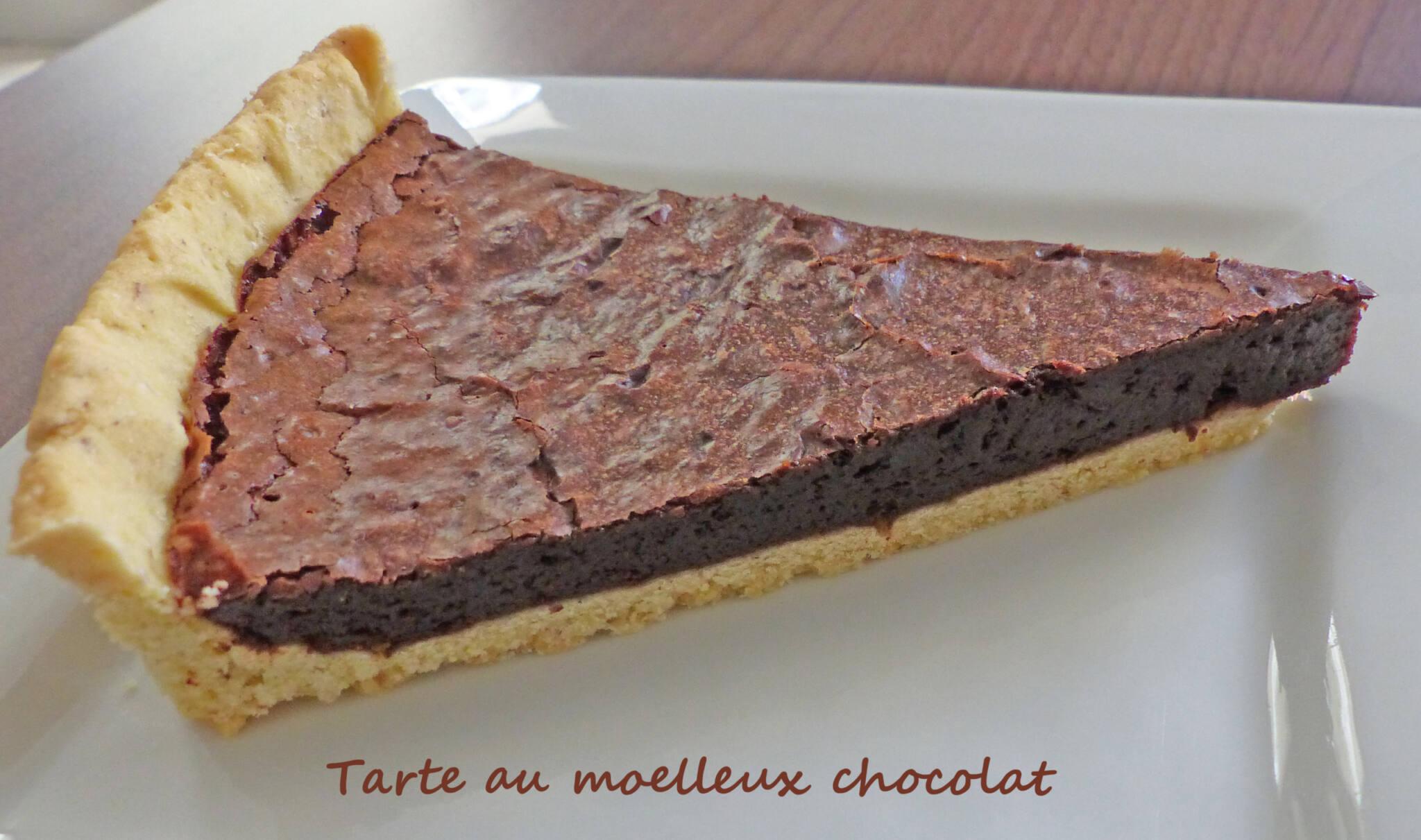 Tarte au moelleux chocolat P1250347 R